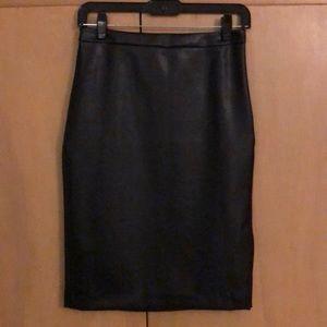 Banana Republic Faux Leather Pencil Skirt